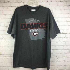 Men's Georgia Bulldogs Dawgs Gray SS Tee UGA Sz XL